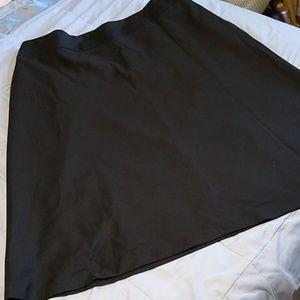 Talbots Woman Black Wool Long Skirt 20 W No Slit